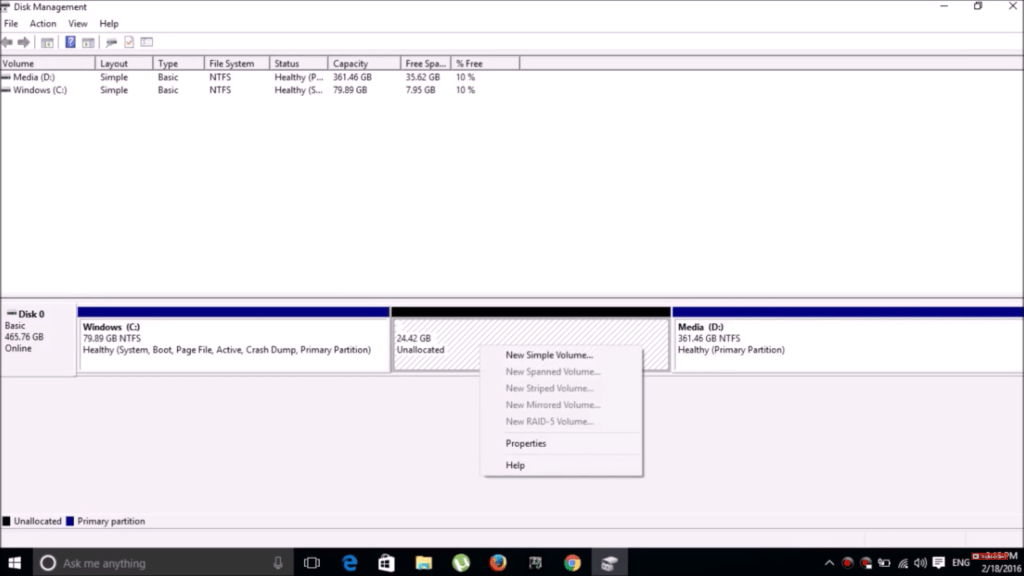 Dual Boot Phoenix OS - Disk Management