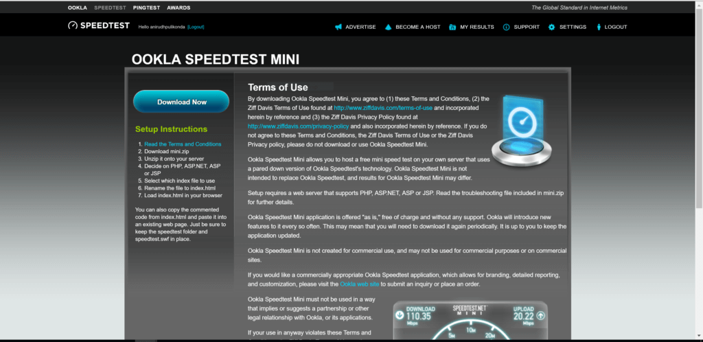 Create Speed Test Server - mini download_1