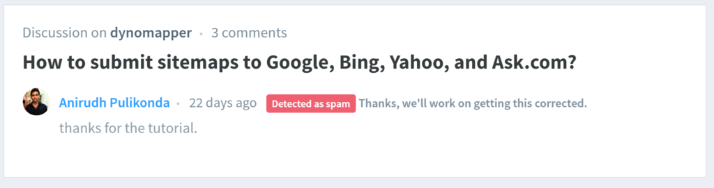Disqus Backlinks Spam