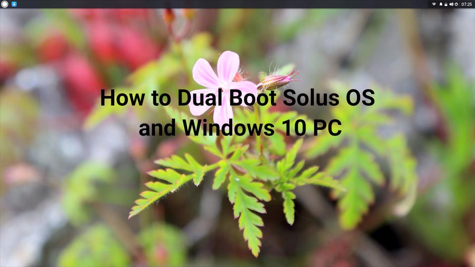 Dual Boot Solus OS
