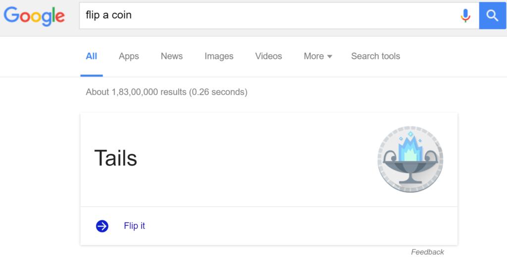 Flip-a-coin - Google Games