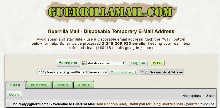 Temporary Email Address Generator