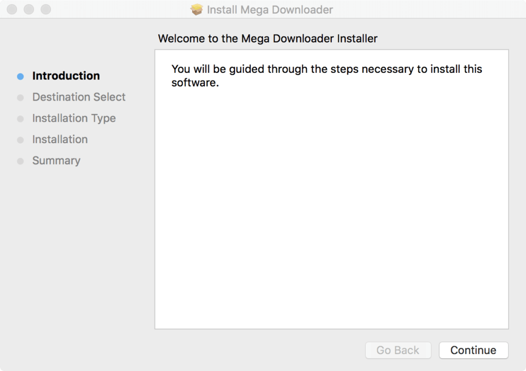 MegaDownloader for Mac Installation