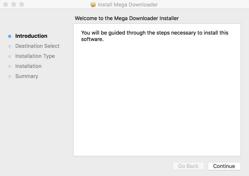 MegaDownloader for Mac Installation
